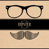 Hipster style card design Royalty Free Stock Photos