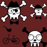 Hipster style cartoon skull set3. Hipster style cartoon skull set in vector format very easy to edit vector illustration