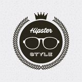 Hipster style classic emblem Royalty Free Stock Photos