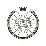 Hipster style classic emblem Royalty Free Stock Images
