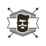 Hipster style classic emblem Stock Photo