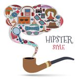 Hipster style concept Stock Image