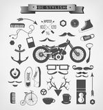Hipster style elements, icon and object can be Stock Photos