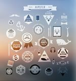 Hipster style elements Royalty Free Stock Images