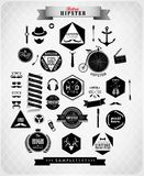 Hipster style elements and icons Royalty Free Stock Photo