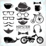 Hipster style elements and icons Stock Photo