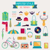 Hipster style elements and icons set for retro Stock Photo