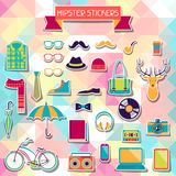 Hipster style elements and icons set for retro Royalty Free Stock Photos