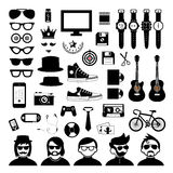 Hipster style elements and icons set Stock Photo