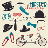 Hipster style elements and icons Stock Photography