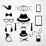 Hipster. Style elements set. Chalkboard background. EPS 10 file with transparencies Royalty Free Stock Image