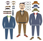 Hipster style with elements of style. Illustration Royalty Free Stock Photography