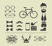 Hipster style elements Royalty Free Stock Photos