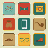 Hipster style elements Stock Photography