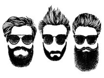 Hipster style and fashion vector illustration set. Stock Images