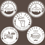 Hipster style food labels vintage vector Stock Image