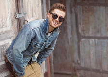 Hipster style guy stock photography