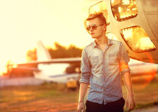 Hipster style guy. Fashion man Stock Photography