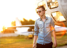 Hipster style guy. Fashion man Royalty Free Stock Image