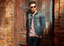 Hipster style guy. Royalty Free Stock Images