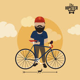 Hipster style infographics elements and icons Stock Images