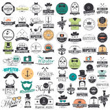 Hipster Style infographics elements and icons set Royalty Free Stock Images