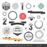 Hipster style infographics elements set for retro design. With r Royalty Free Stock Photography
