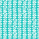 Hipster style pattern with doughnut like shapes. Hipster style vector pattern with doughnut like shapes in white on green. Seamless texture for web, print Royalty Free Stock Image