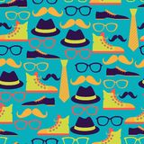 Hipster style seamless pattern Royalty Free Stock Photos