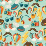 Hipster style seamless pattern Royalty Free Stock Image