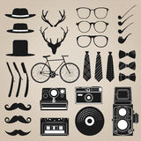 Hipster style set 1 . Vector illustration Stock Photo