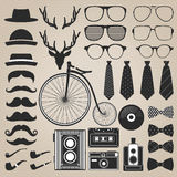 Hipster style set 2 . Vector illustration Stock Photos