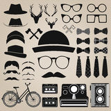 Hipster style set 4 . Vector illustration Stock Photos