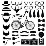 Hipster style set 3 . Vector illustration Royalty Free Stock Image