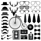 Hipster style set 2 . Vector illustration Stock Image