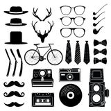 Hipster style set 1 . Vector illustration Stock Photos