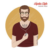 Hipster Style Template Royalty Free Stock Photography