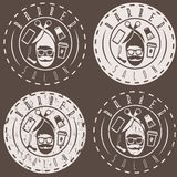 Hipster style vector labels of barber royalty free illustration