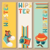 Hipster style vertical banners Stock Images