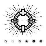 Hipster style vintage aim with starbursts ray Royalty Free Stock Photo