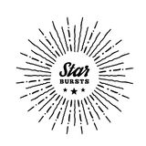 Hipster style vintage star burst with ray Stock Photos