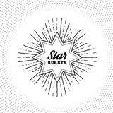 Hipster style vintage star burst with ray Stock Photography