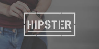 Hipster Stylish Modern Fashion Concept stock photography