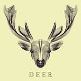 Hipster stylize vector deer Royalty Free Stock Photography