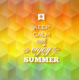 Hipster summer background Stock Photos