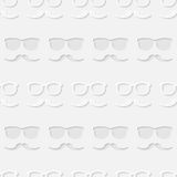 Hipster sunglasses and mustache seamless pattern Royalty Free Stock Photography