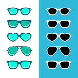 Hipster sunglasses Stock Images