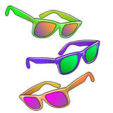 Hipster sunglasses set Stock Photography