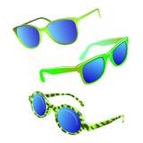 Hipster sunglasses set Stock Photos