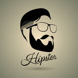 Hipster symbol style. Hipster symbol retro style with green background Stock Photos
